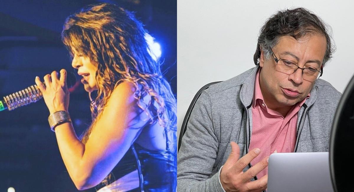 La cantante hizo una nueva acusación contra Petro. Foto: Twitter @AndresCamiloHR.