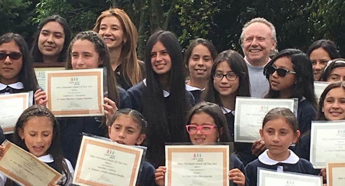 La Fundación Santa María aboga por el crecimiento musical de las niñas en Colombia. Foto: Fundación Santa María