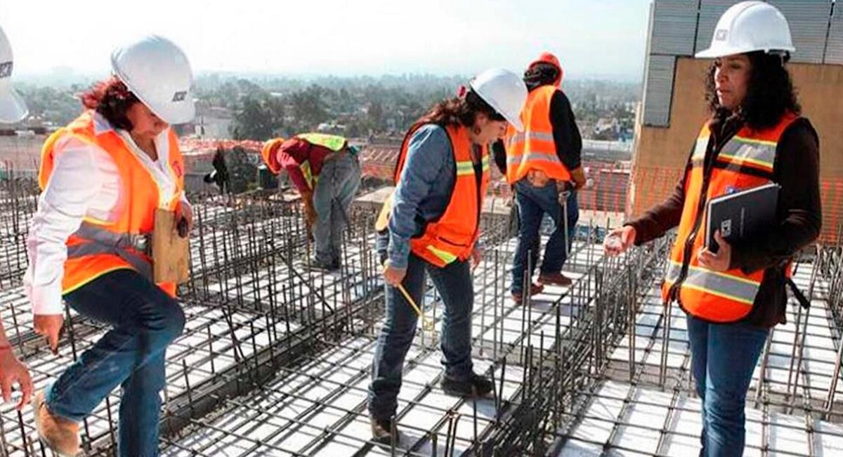 Formación en sector construcción para mujeres en el Sena. Foto: Grupo Edisur