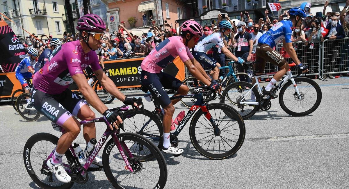 Sigue en vivo la etapa 20 del Giro de Italia. Foto: Twitter Prensa redes Giro de Italia.