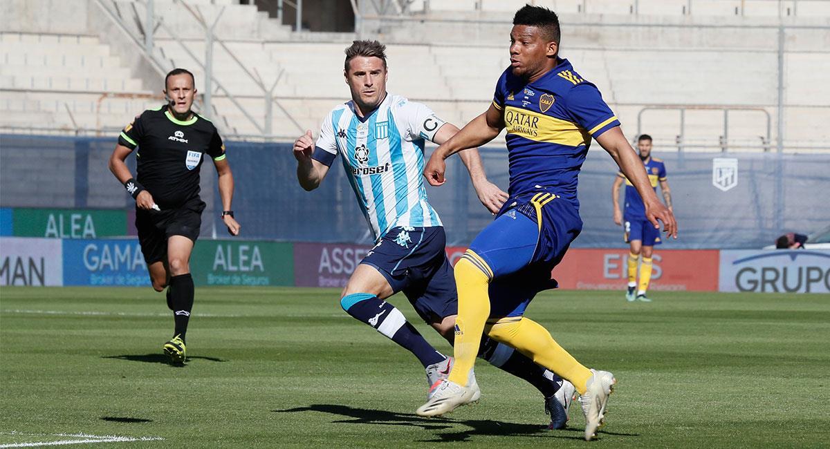 Los cuatro colombianos de Boca Juniors fueron titulares ante Racing. Foto: Twitter @BocaJrsOficial