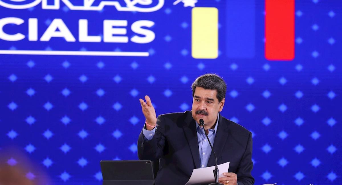Nicolás Maduro reprochó la intervención de la ONU en la situación actual de Colombia. Foto: EFE