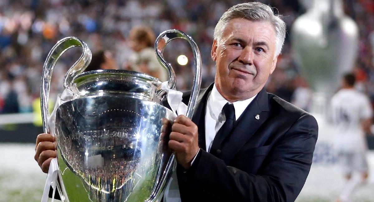 Carlo Ancelotti ganó la Champions League con Real Madrid. Foto: EFE