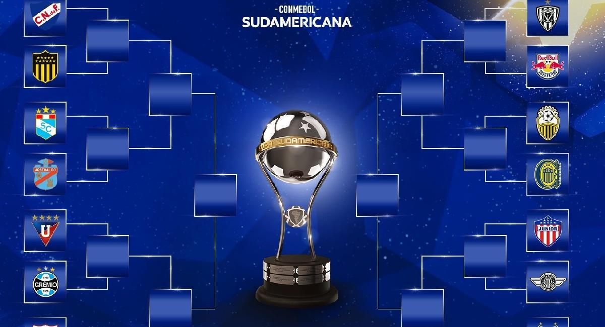 Estos serán los rivales de América de Cali y Junior de Barranquilla en los octavos de final de Copa Conmebol Sudamericana. Foto: Twitter @Sudamericana