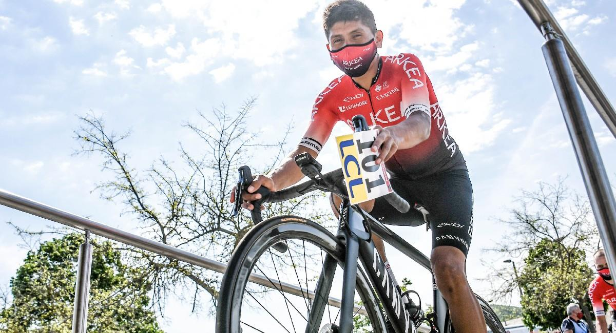 Nairo Quintana es el mejor colombiano en el Critérium del Dauphiné. Foto: Twitter @Arkea_Samsic