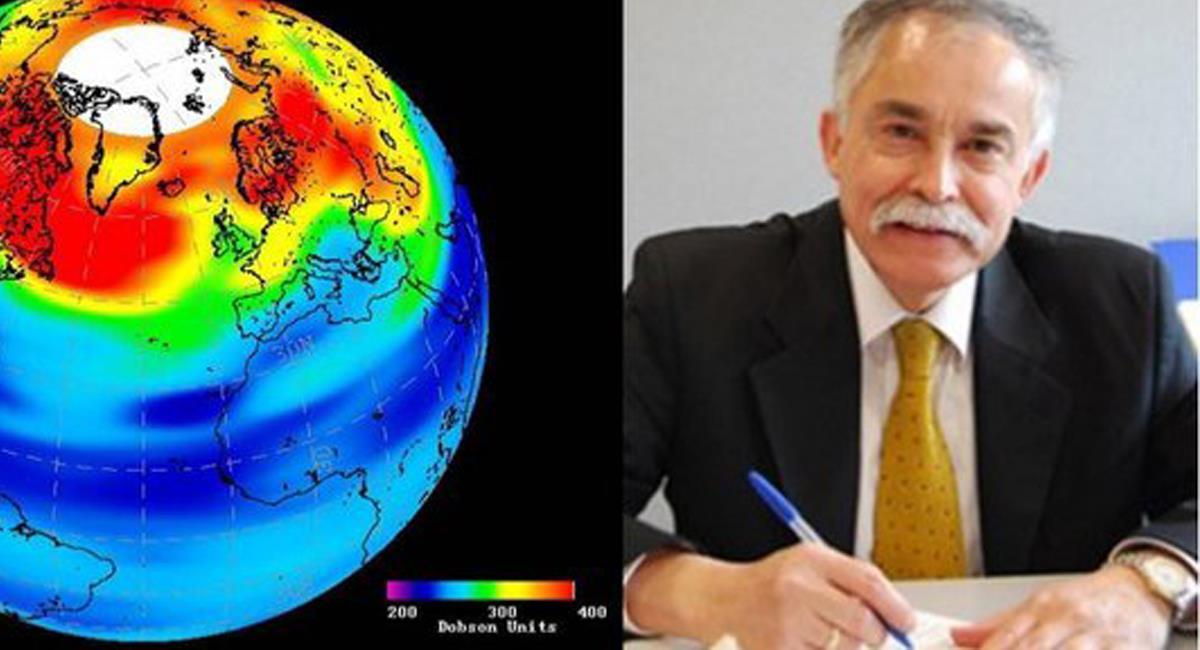 Nelson Sabogal, nació en Cáqueza, Cundinamarca y es una de las más grandes autoridades mundiales sobre investigación y conocimiento de la capa de ozono. Foto: Twitter @MalokaBogotá