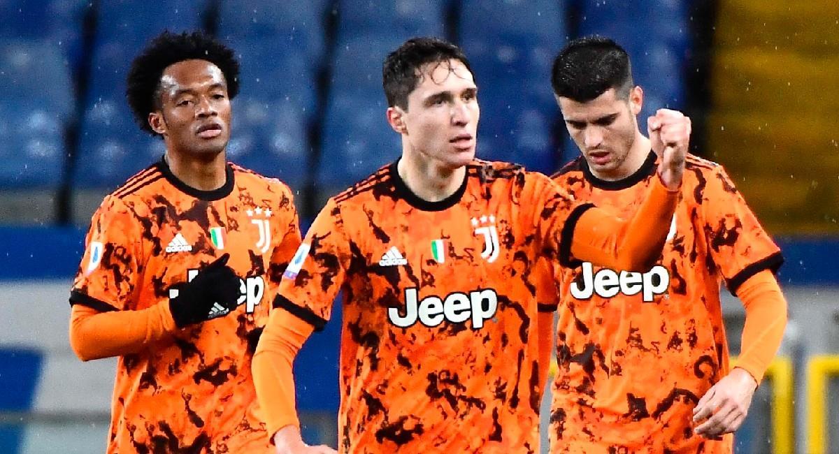 Juan Guillermo Cuadrado, jugador colombiano de Juventus. Foto: EFE