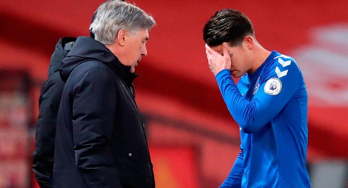 Carlo Ancelotti no dirigirá más a James Rodríguez en Everton. Foto: EFE