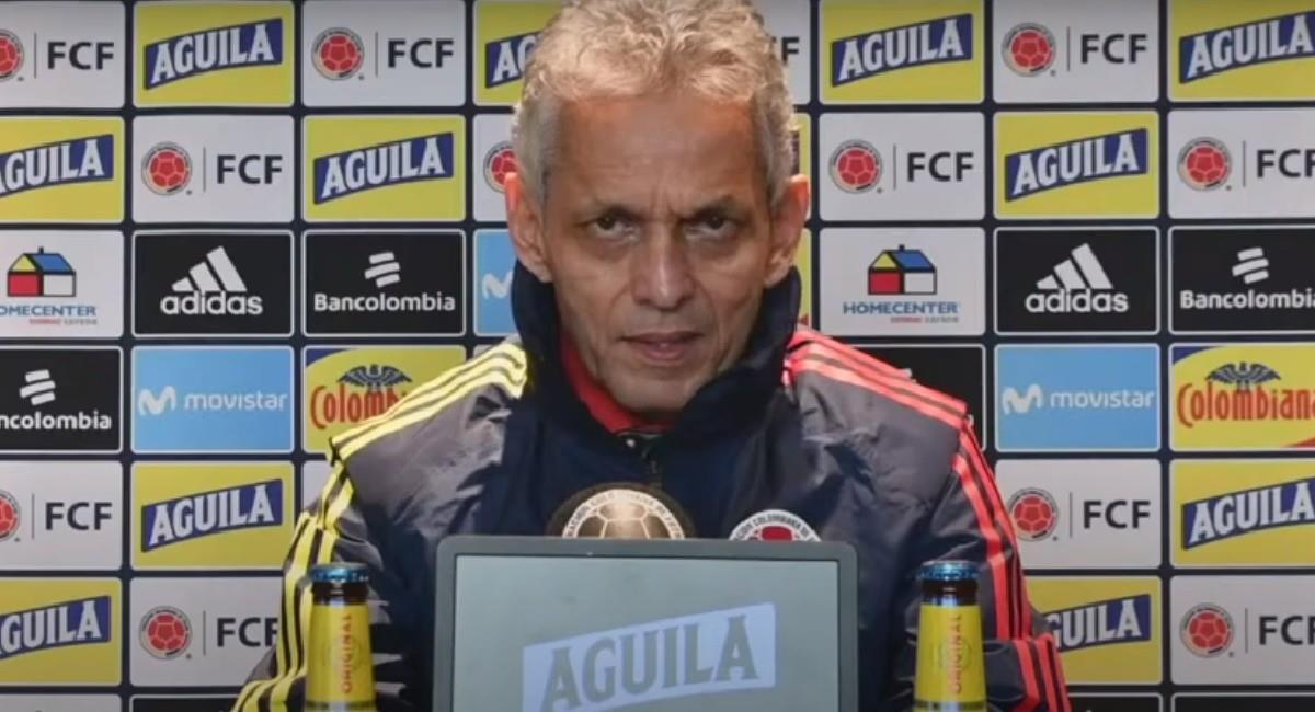 Reinaldo Rueda en rueda de prensa previo al partido contra Perú. Foto: Youtube