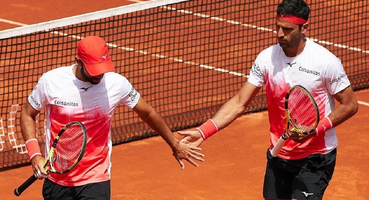 Juan Sebastián Cabal y Robert Farah en Roland Garros. Foto: Twitter @fedecoltenis