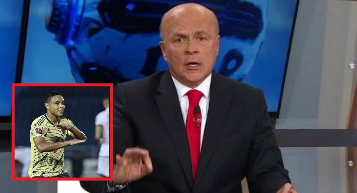 Carlos Antonio criticó fuertemente a Muriel. Foto: Twitter Captura pantalla Win Sports y Luis Muriel.