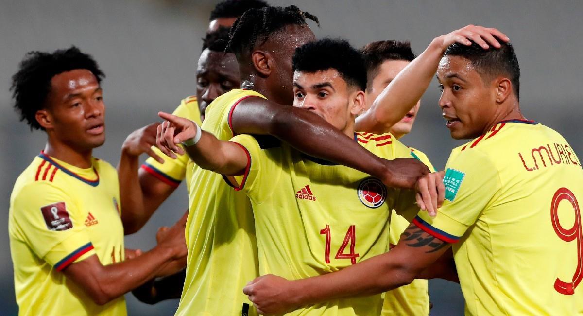 Colombia goleó a Perú por las eliminatorias al Mundial de Qatar 2022. Foto: EFE