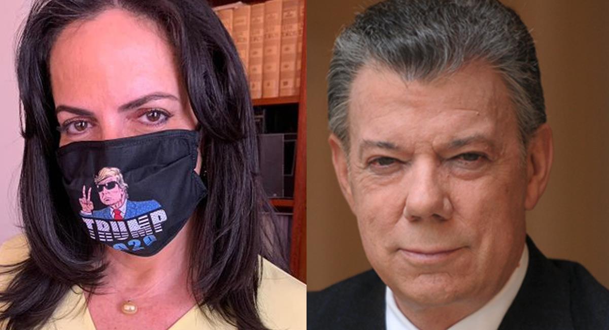 Para María Fernanda Cabal el verdadero jefe de las protestas es Juan Manuel Santos y no Gustavo Petro. Foto: Twitter @Par2doss / Kansasjoyce