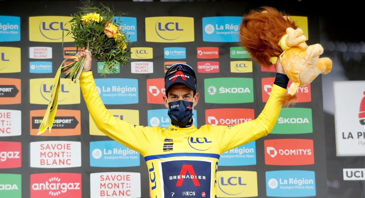 Richie Porte campeón del Dauphiné. Foto: Twitter Prensa redes Team Ineos.