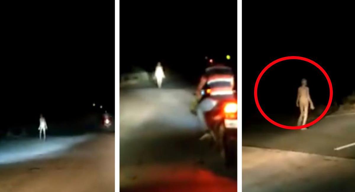 El video fue captado en horas de la noche, en un puente de una localidad de la India. Foto: Twitter @Ashutos32363607