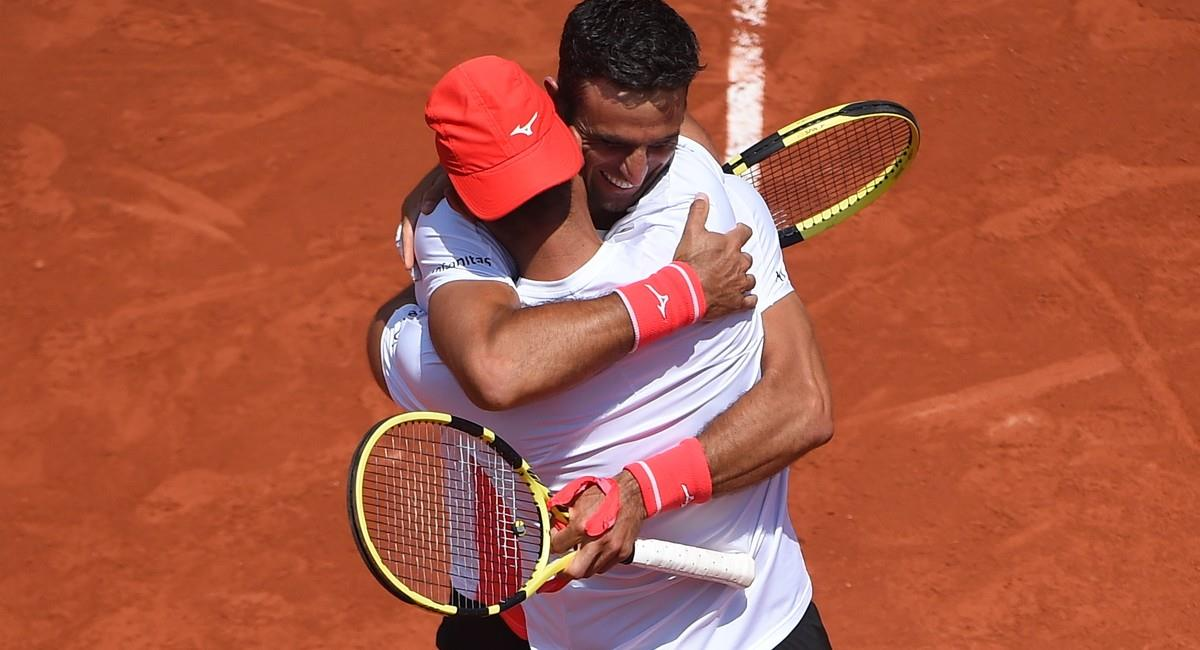 Cabal y Farah celebra su triunfo en Roland Garros. Foto: Twitter @rolandgarros
