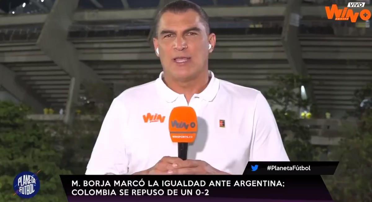 Faryd Mondragón, comentarista en Planeta Fútbol. Foto: Twitter @WinSportsTV