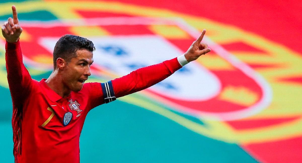 Cristiano Ronaldo festeja su gol ante Israel. Foto: EFE