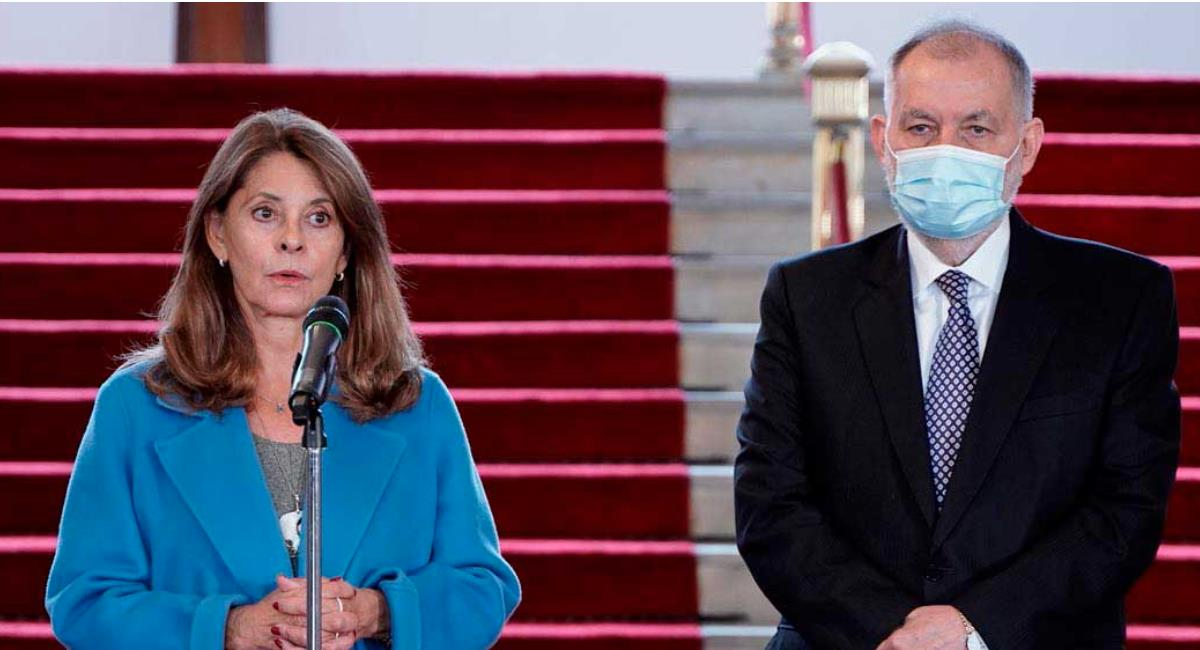 Marta Lucía Ramírez recibió a la Comisión Interamericana de Derechos Humanos. Foto: Presidencia de Colombia
