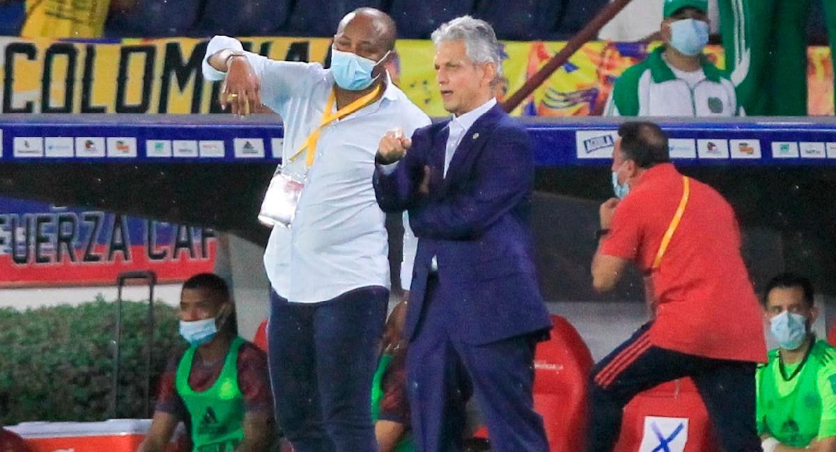 Reinaldo Rueda en el partido de la Selección Colombia ante Argentina. Foto: EFE