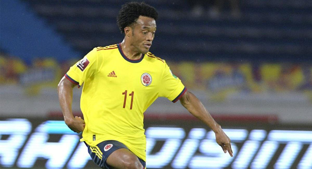 Juan Guillermo Cuadrado fue una de las figuras de Colombia ante Argentina. Foto: Twitter @FCFSeleccionCol