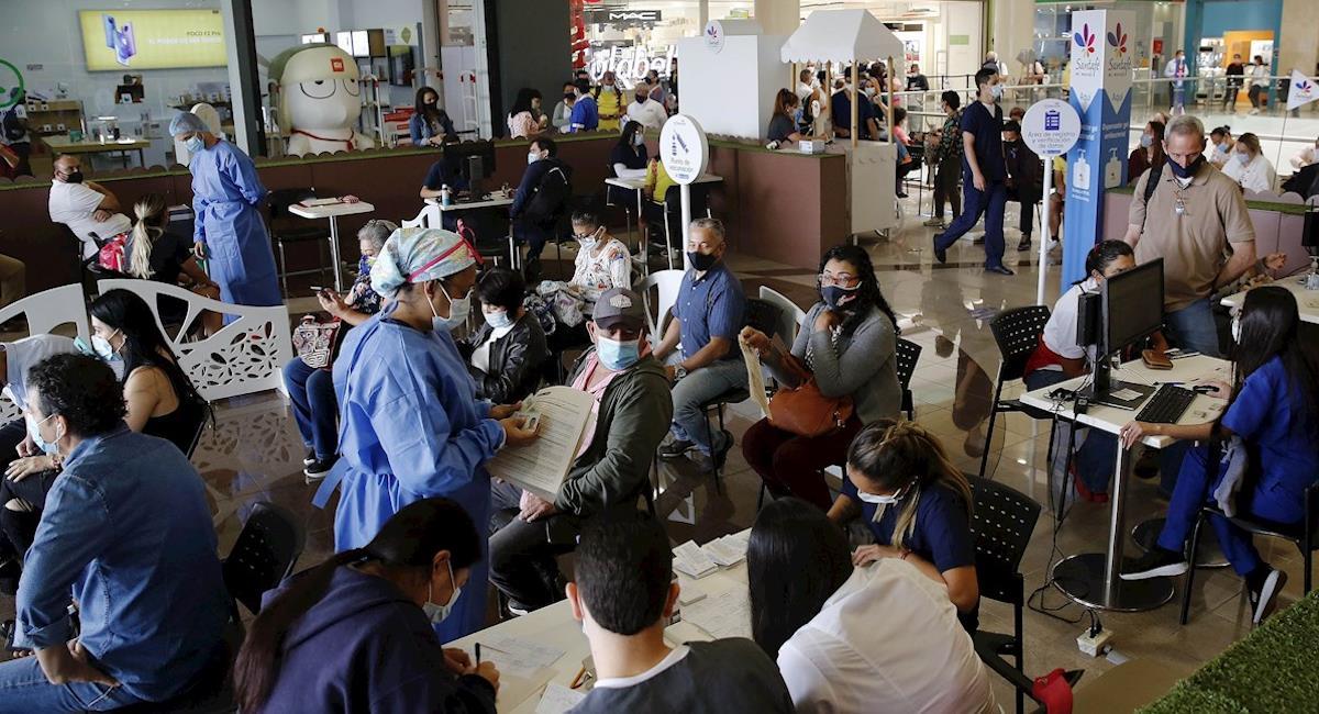 Colombia se da a la reapertura en el peor momento de la pandemia. Foto: EFE