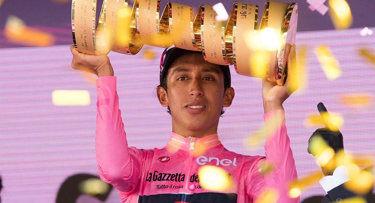 Egan Bernal viene de hacer historia en e Giro de Italia. Foto: EFE