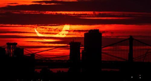 Así se ve el Eclipse 'Anillo de Fuego' desde el Hemisferio Norte