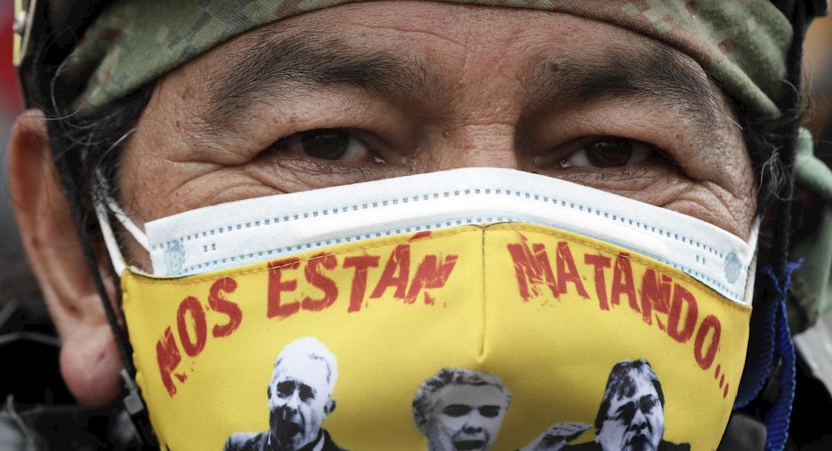Indígenas anuncian desbloqueo de Vía Panamericana. Foto: EFE