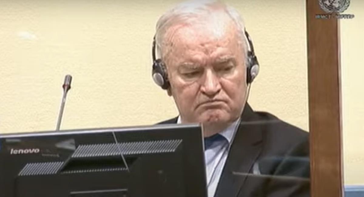 Ratko Mladic fue criado en un ambiente nacionalista y odiaba a los musulmanes de origen turco establecidos en Bosnia por años. Foto: Captura de video