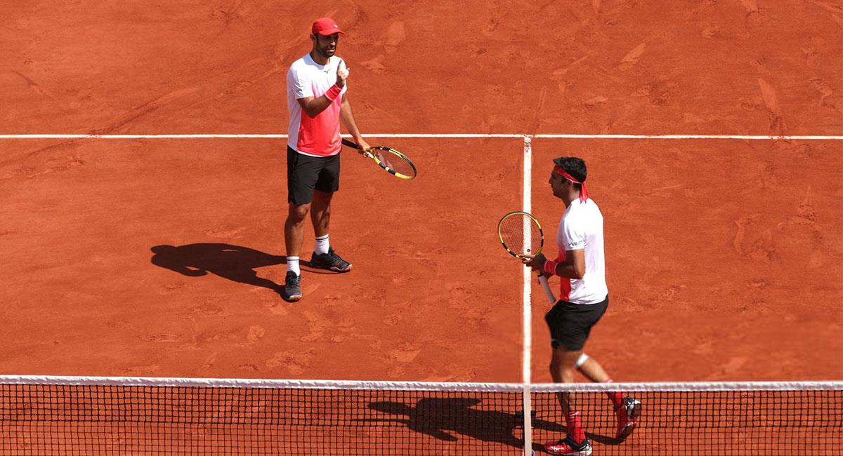 Canal y Farah estuvieron cerca de llegar a la final del Roland Garros. Foto: Twitter @fedecoltenis
