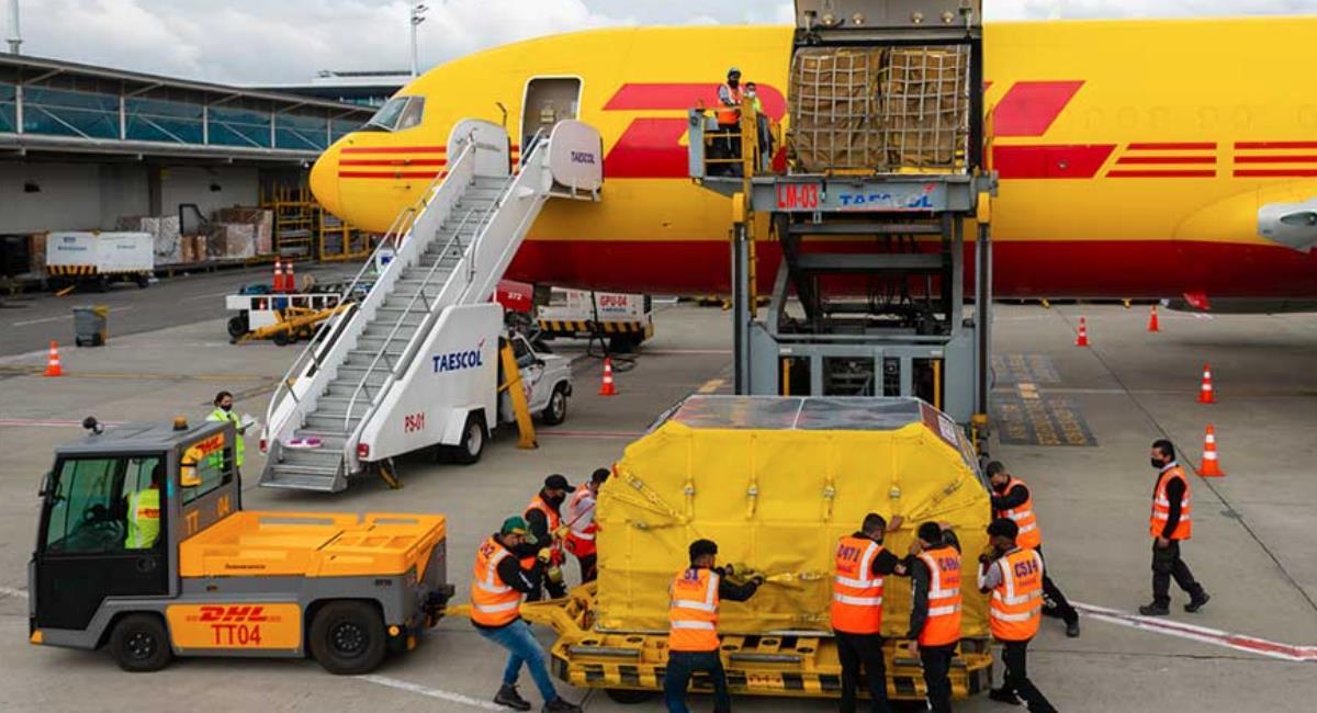 Nuevo lote de vacunas Pfizer llegó a Colombia. Foto: Presidencia de Colombia