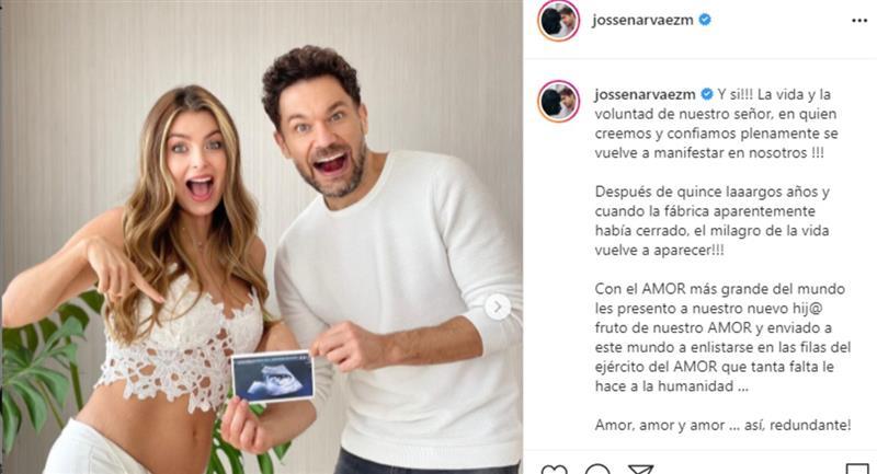 Cristina Hurtado y José Narváez confirmaron que volverán a tener un hijo después de 15 años
