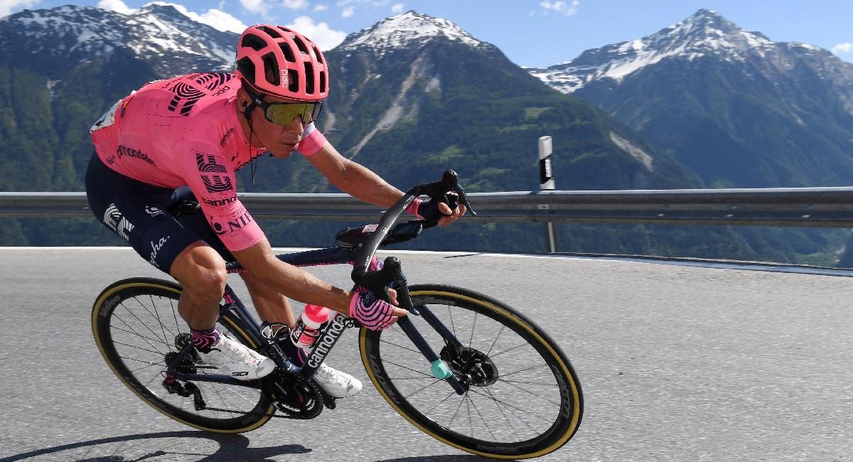 Rigoberto Urán en la Vuelta a Suiza. Foto: Twitter @EFprocycling