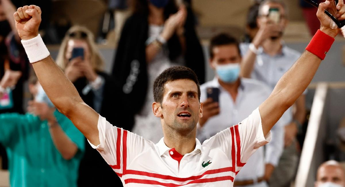 Novak Djokovic celebra su victoria ante Rafael Nadal. Foto: EFE