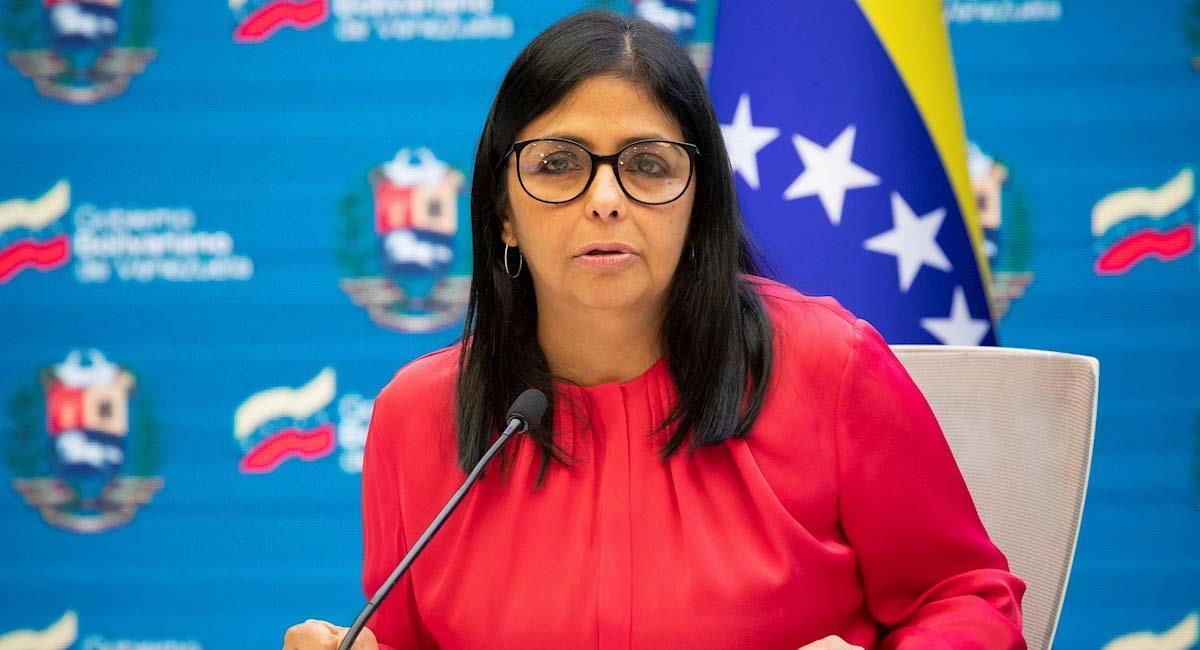 Delcy Rodríguez, vicepresidente de Venezuela. Foto: EFE