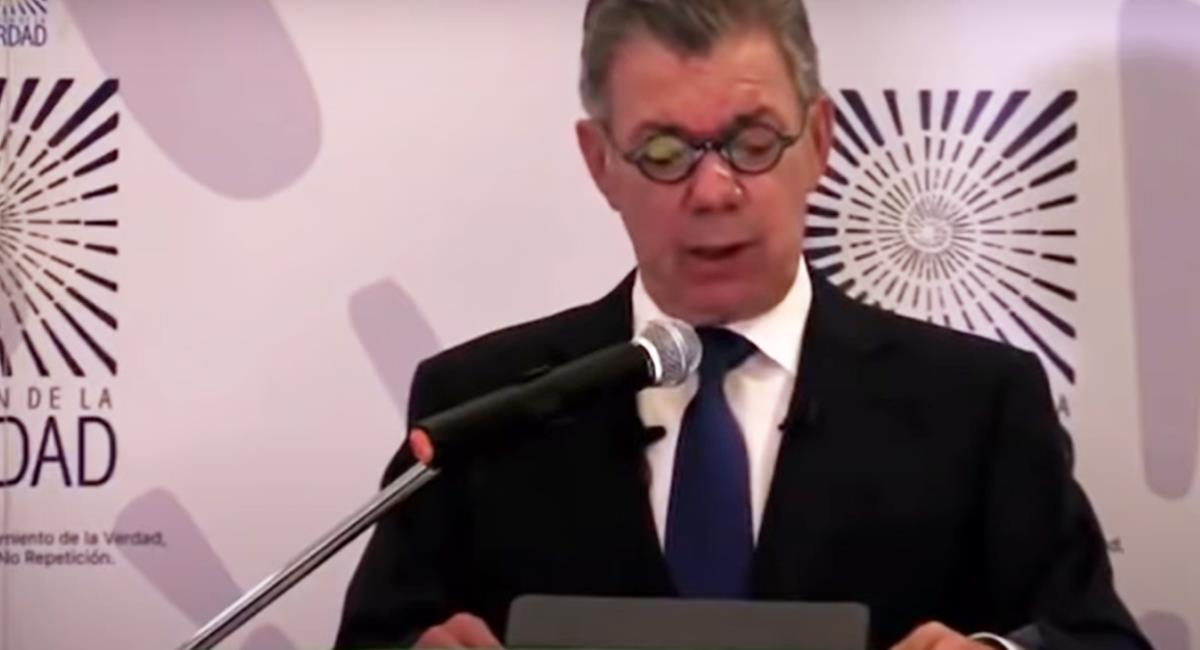 Ante la Comisión de la Verdad el expresidente Juan Manuel Santos pidió perdón por los falsos positivos. Foto: Captura de video