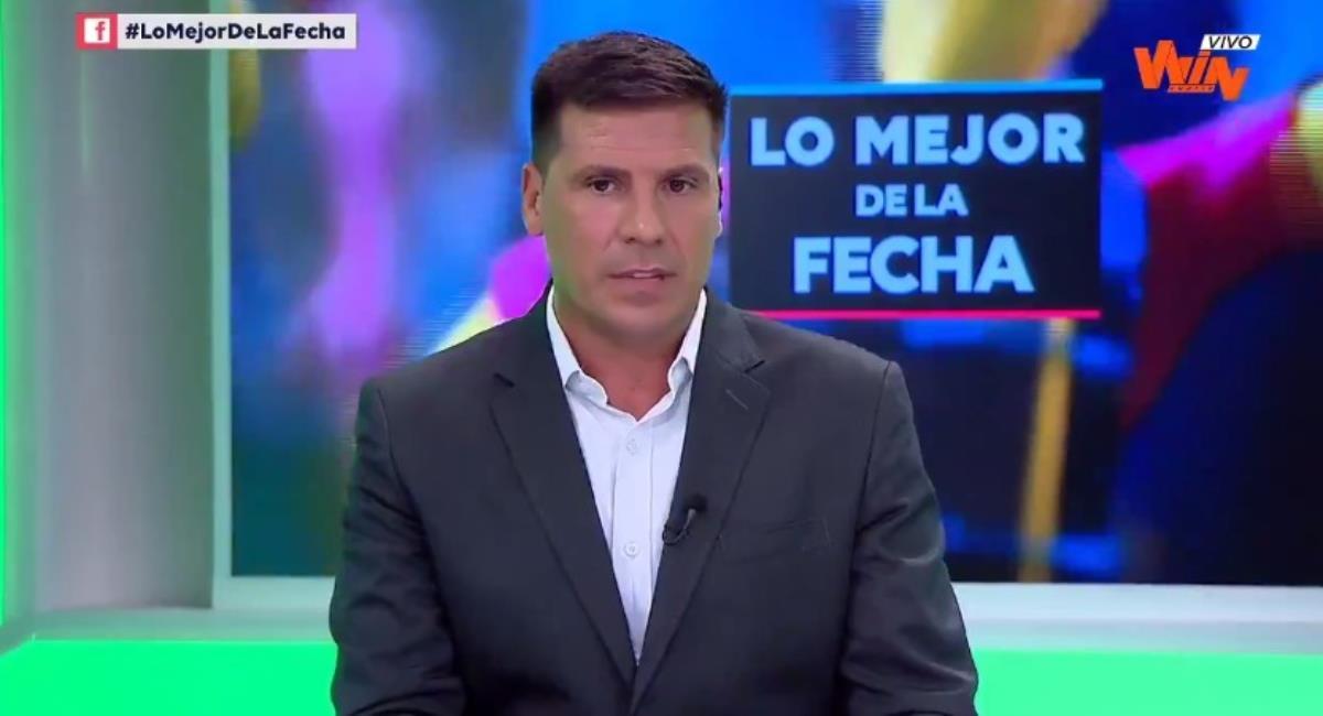 Juan Cruz Real en Win Sports. Foto: Twitter Captura pantalla Win Sports.