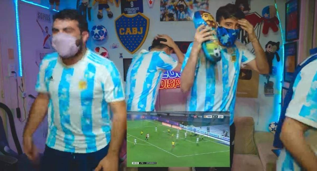 Youtubers argentinos se burlaron y después sufrieron por Muriel y Borja. Foto: Youtube Los Displicentes