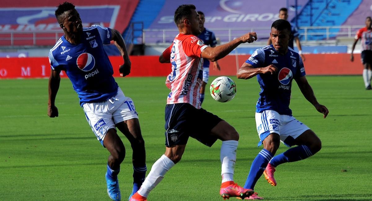 Sigue en vivo la semifinal entre Millonarios vs Junior. Foto: Twitter Prensa redes Dimayor.