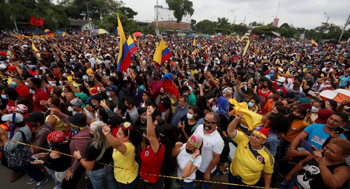 Manifestaciones se suspenden temporalmente en Colombia. Foto: EFE