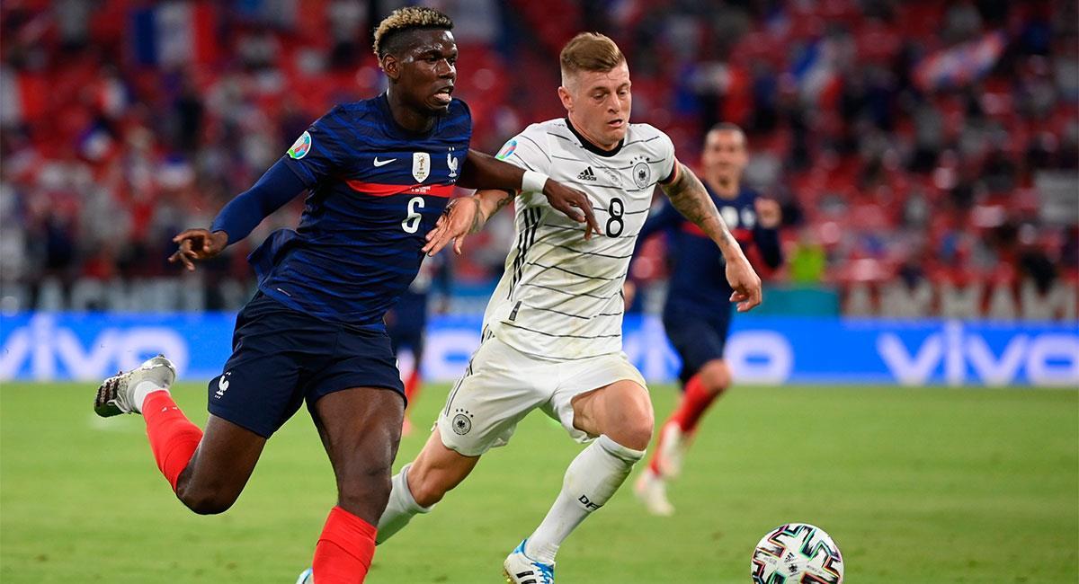 Francia y Alemania reeditaron uno de los clásicos más tradicionales del fútbol europeo. Foto: EFE
