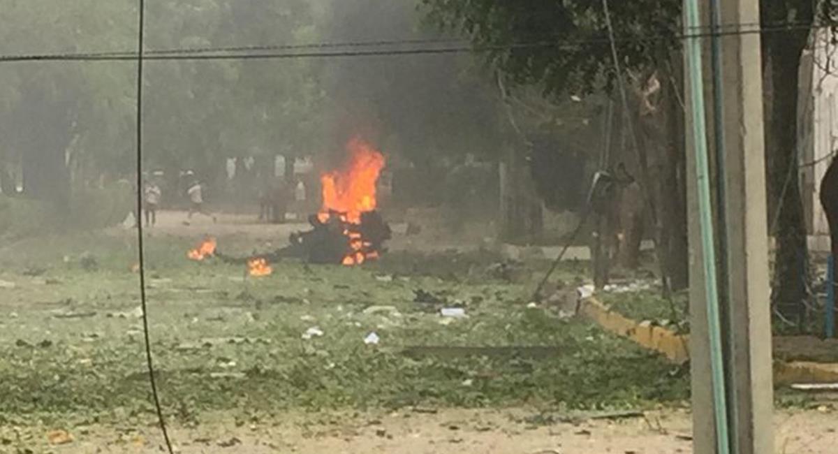 36 heridos se reportan extraoficialmente en el atentado a la Brigada 30 en Cúcuta. Foto: Twitter @patelele89