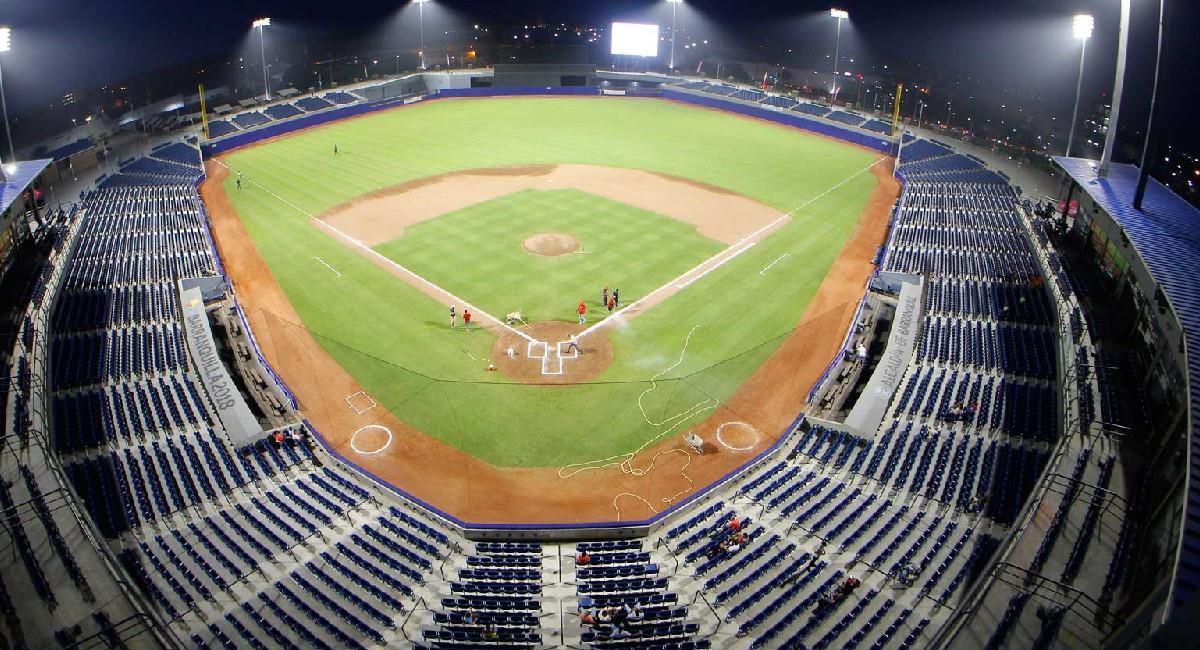 Así luce el estadio de beisból, Edgar Rentería. Foto: Twitter @SecdeportesBAQ