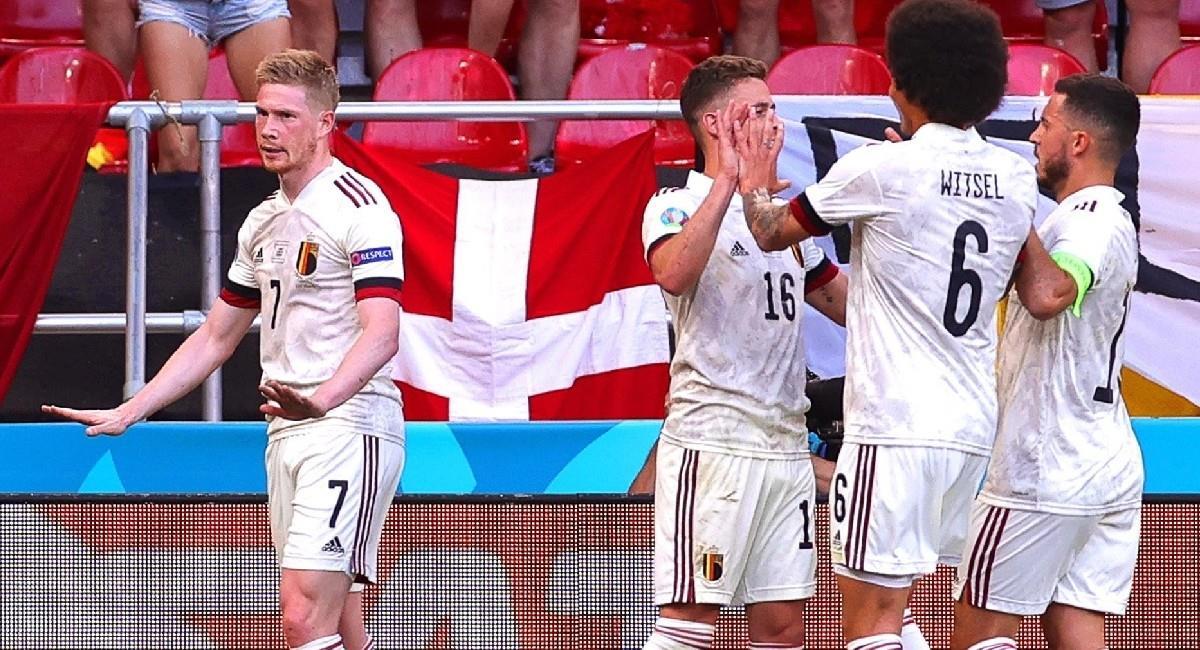 Bélgica derrota a Dinamarca en la Eurocopa y sigue invicta. Foto: EFE