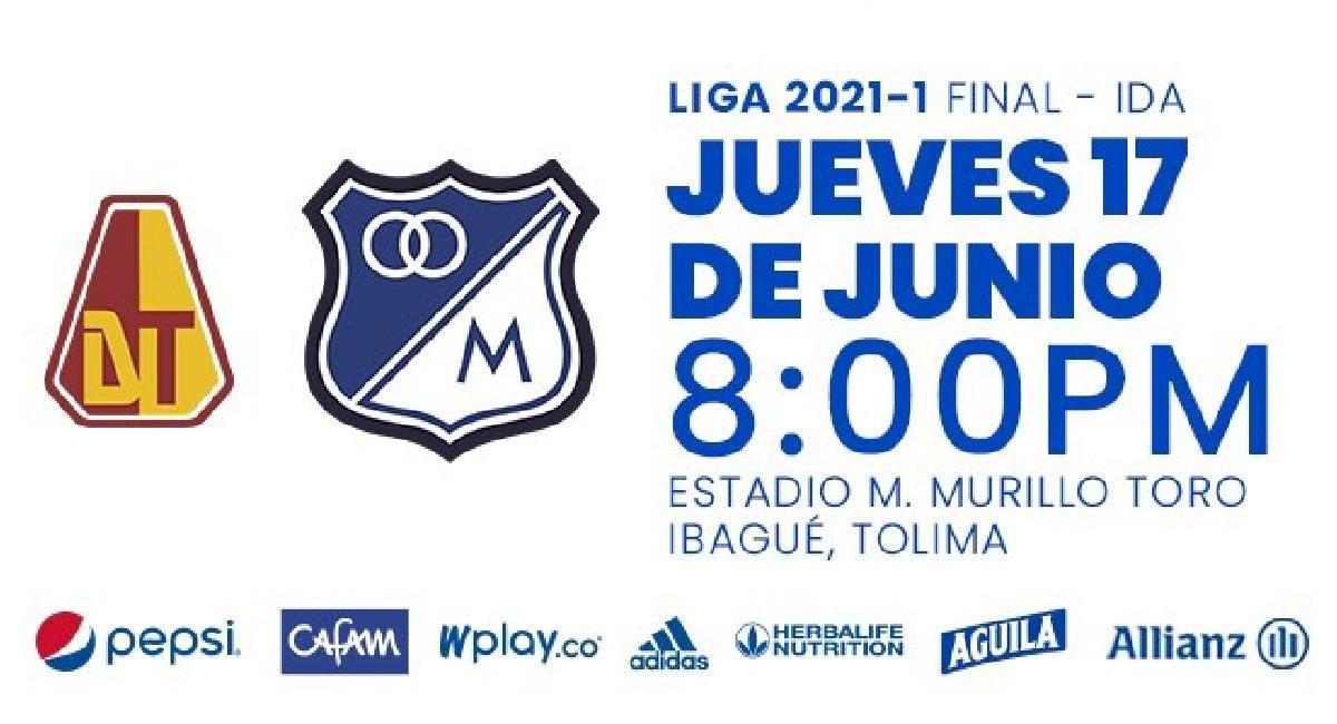 Sigue EN VIVO Tolima vs. Millonarios. Foto: Twitter @MillosFCoficial