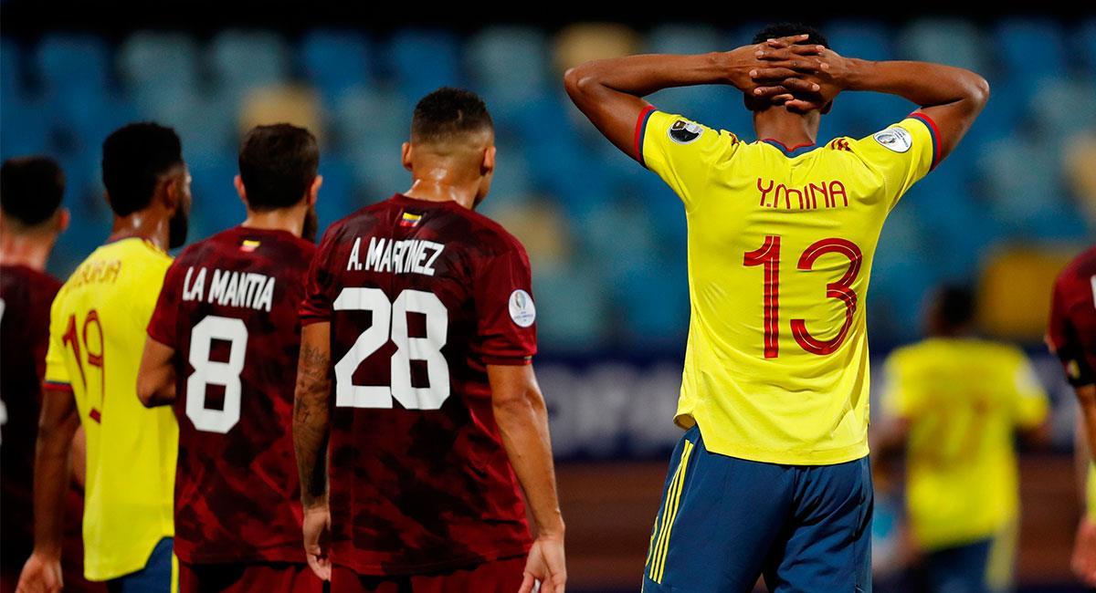 Colombia no pudo concretar sus chances de gol ante Venezuela. Foto: EFE