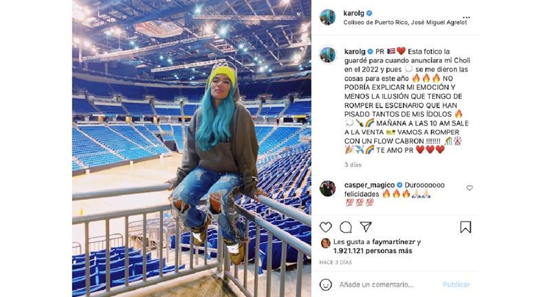 Captura de pantalla. Foto: Instagram @karolg.