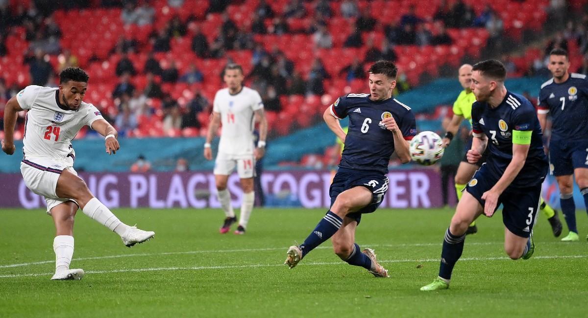 Inglaterra y Escocia igualaron sin goles en la Euro 2020. Foto: EFE