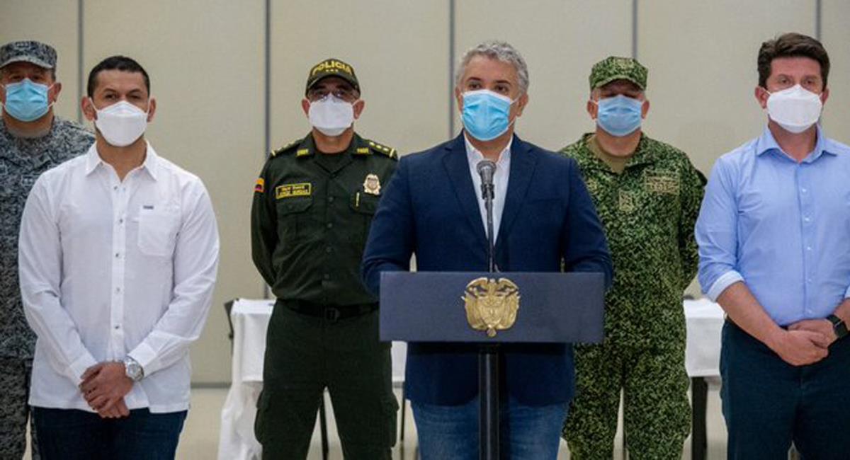 """Iván Duque Márquez anunció la captura de alias """"Macho"""", principal cabecilla de """"Los Pelusos"""". Foto: Twitter @infopresidencia"""
